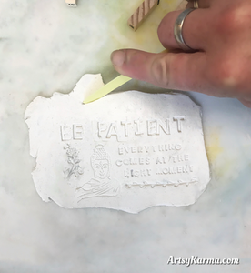 cutting clay into shapes