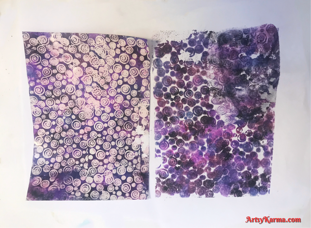 Embossing and alcohol ink tutorial