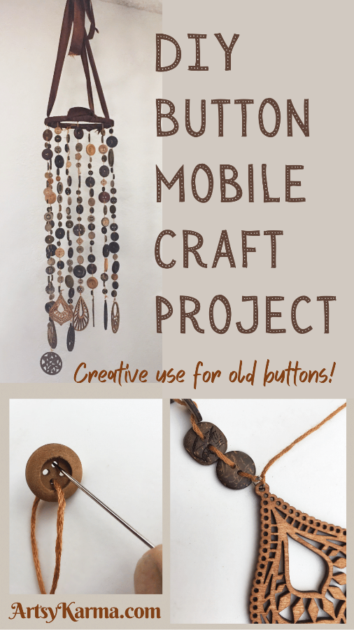 Diy button mobile craft project