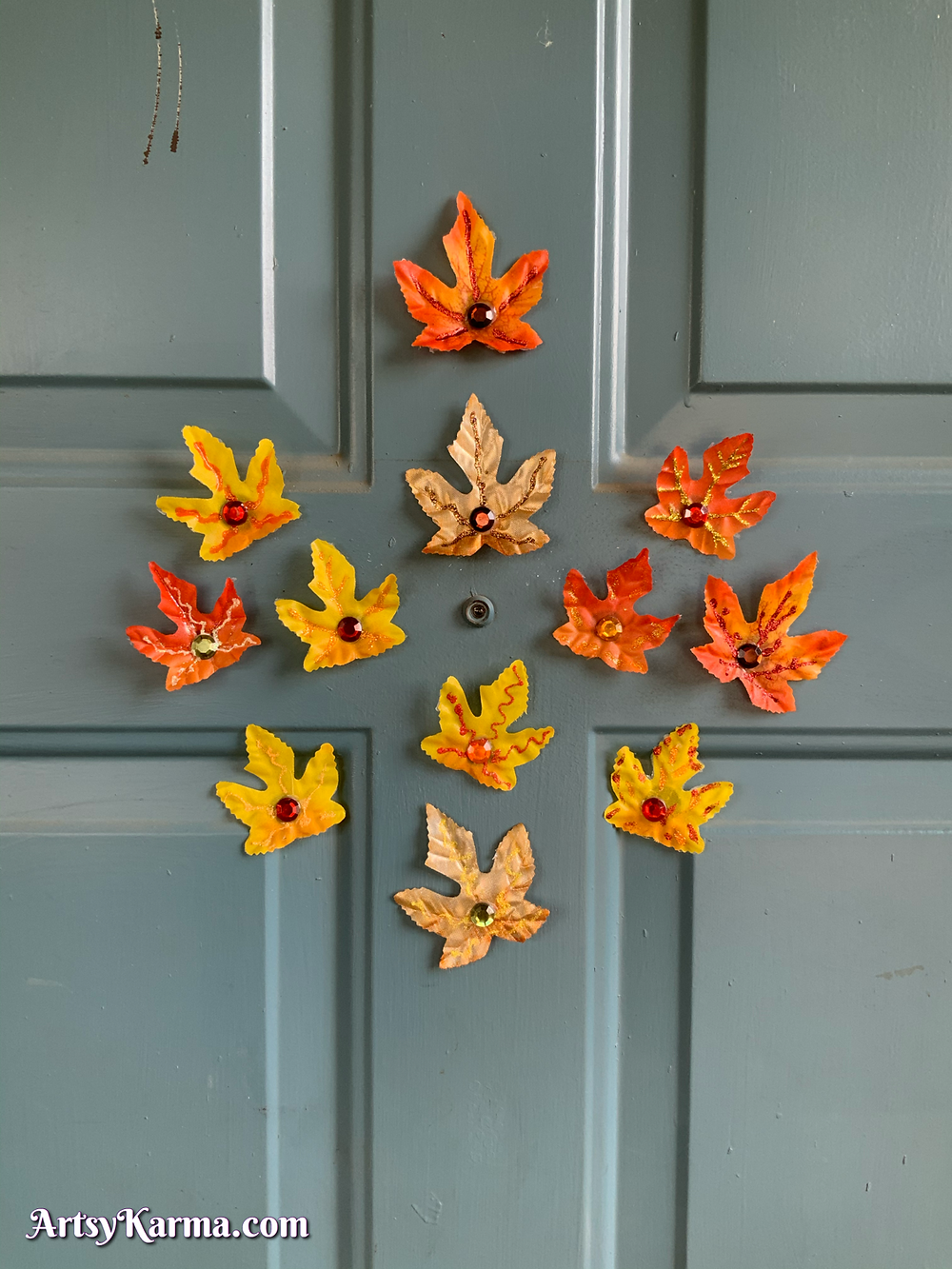 Autumn leaves decoration for your porch