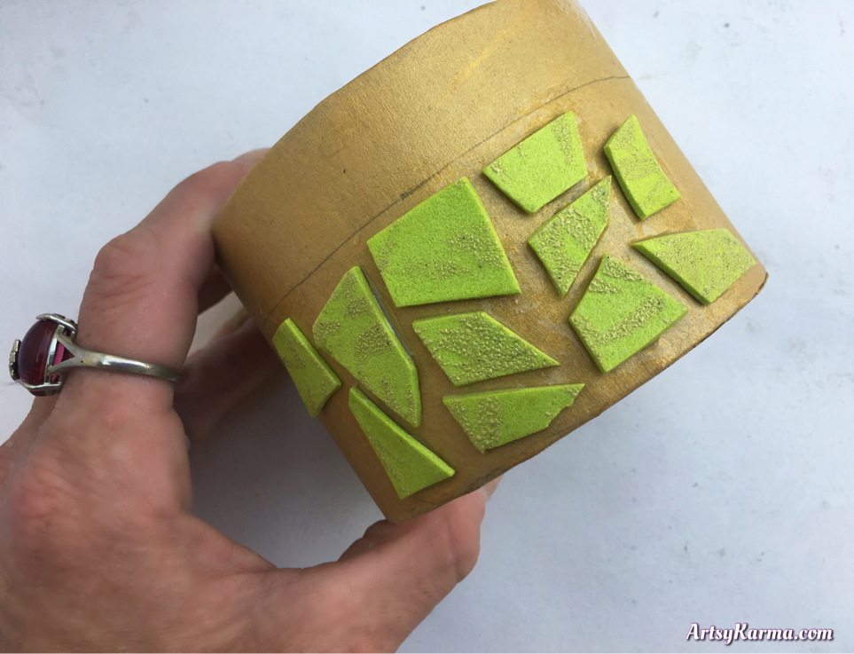 Using craft foam as tiles for a mosaic box