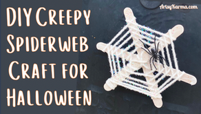 How to Make Woven Spider Web Magnets for Halloween Front Door Decor