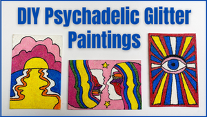 Use Glitter to Make a Psychedelic Painting
