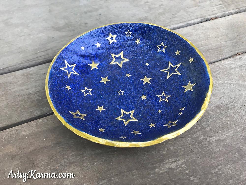star themed diy ring dish