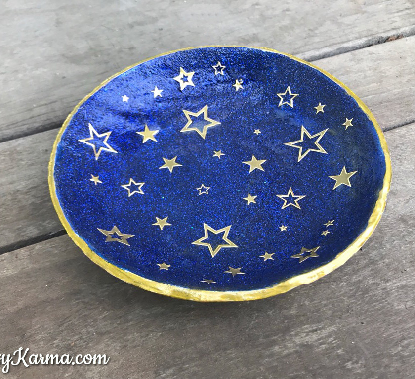 diy clay sparkle ring dish
