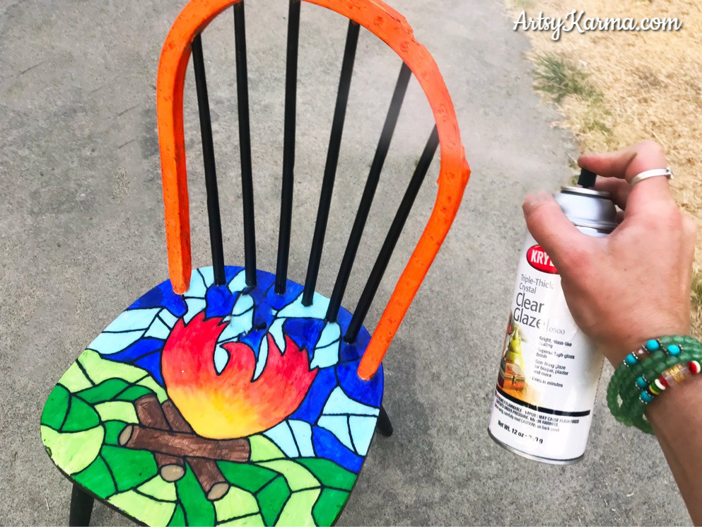 coat the bars of the chair with ultra thick spray gloss