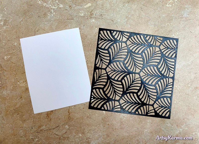 Gesso and ink background tutoriall