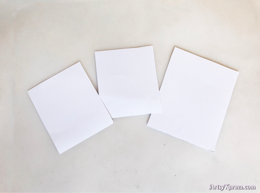 Using card stock for background techniques