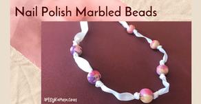 How to Make Marbled Beads Using Nail Polish