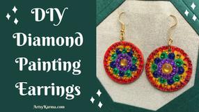 DIY Diamond Painting Earrings