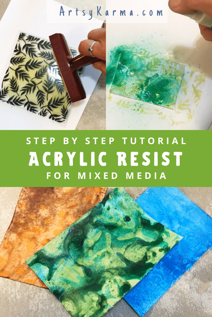 tutorial for mixed media background