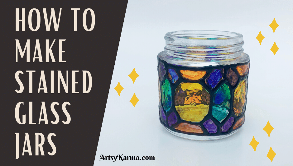 How to make stained glass jars