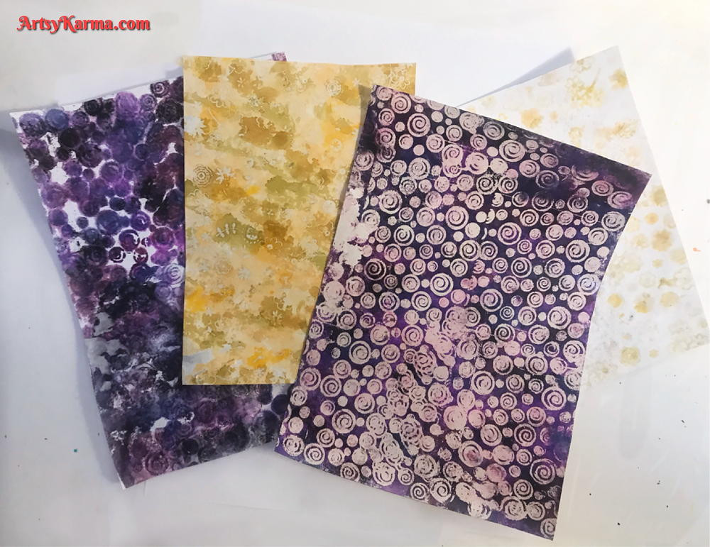 Background ideas: alcohol ink and embossing powder