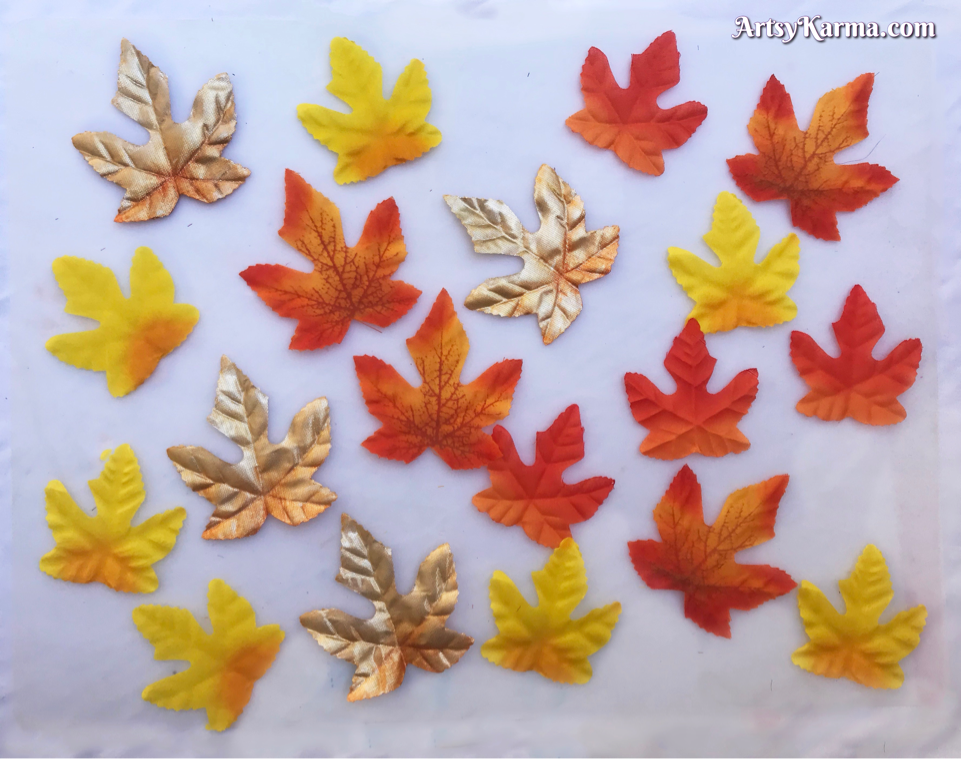 Faux leaves to decorate your porch