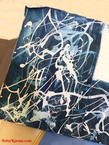 splatter journal page