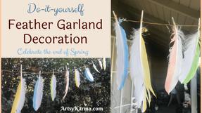 How to Make a Sparkling Springtime Feather Garland