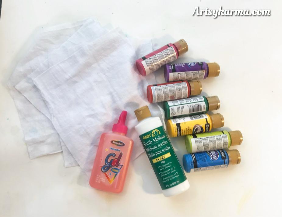 supplies needed for glue batik