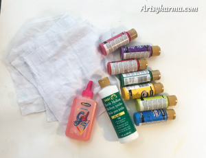 supplies needed for glue batik