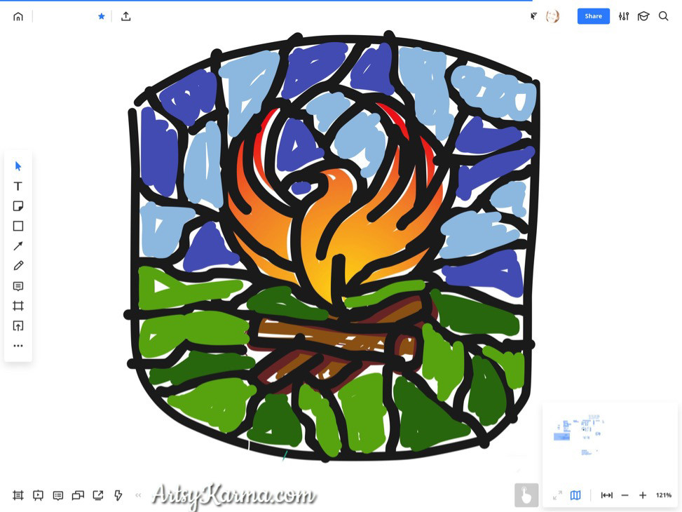 camp fire phoenix design