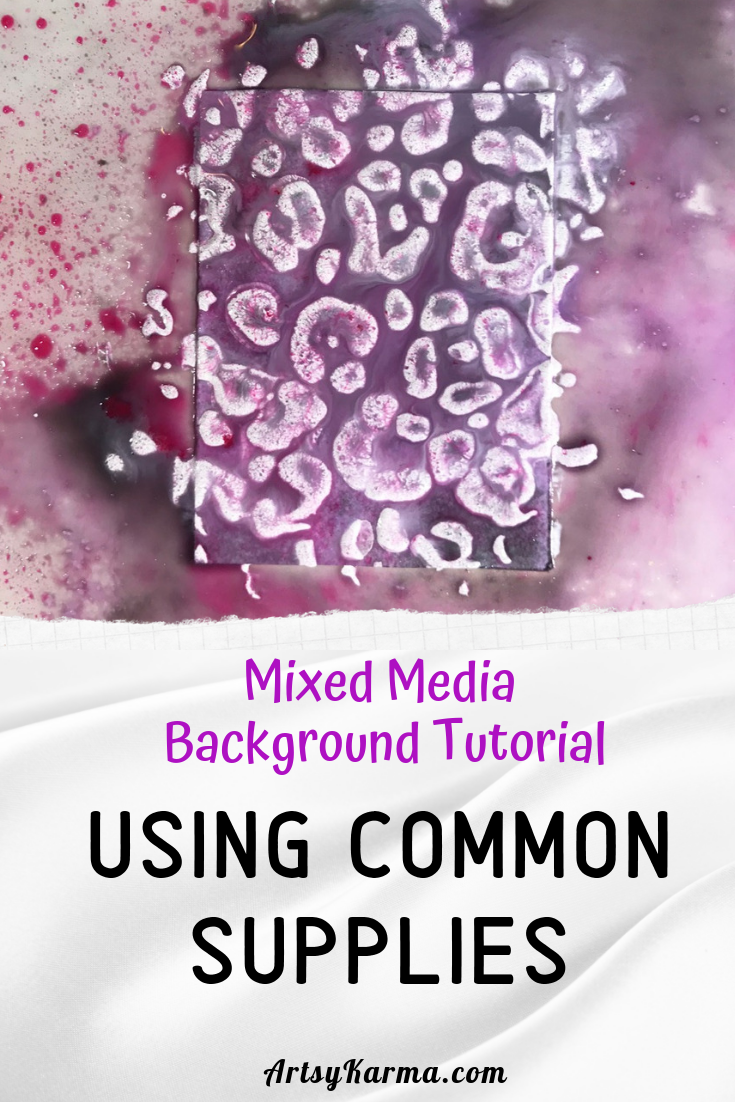 mixed media background tutorial using common supplies