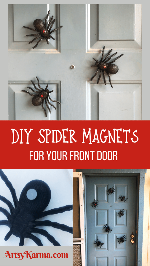diy spider magnets for your front door