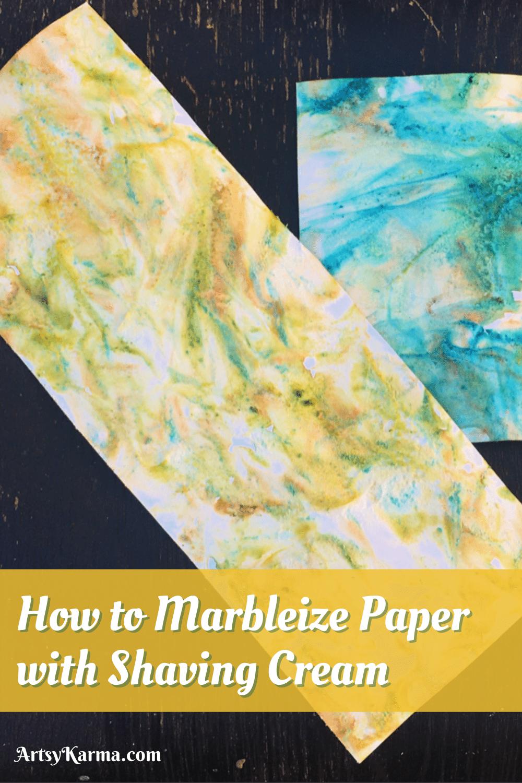 How to marbleize paper using shaving cream