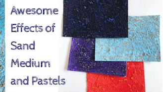 Oil Pastels on Sand Background Technique