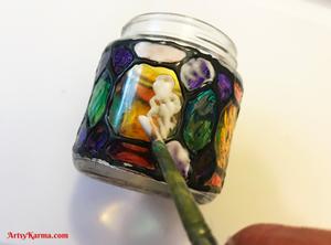 Glass jar craft
