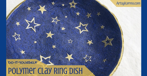 DIY: Polymer Clay Ring Dish That Sparkles