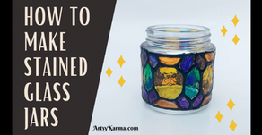 DIY Faux Stained Glass Jar Lanterns