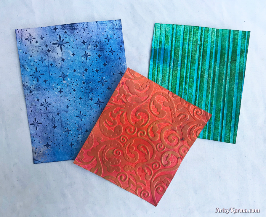 Tutorial on how to dry emboss card stock