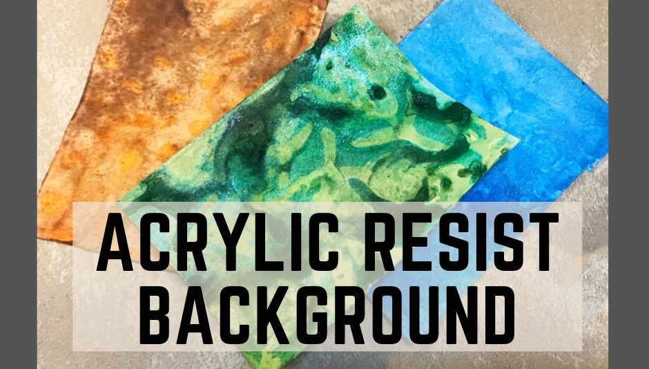 Acrylic resist background technique