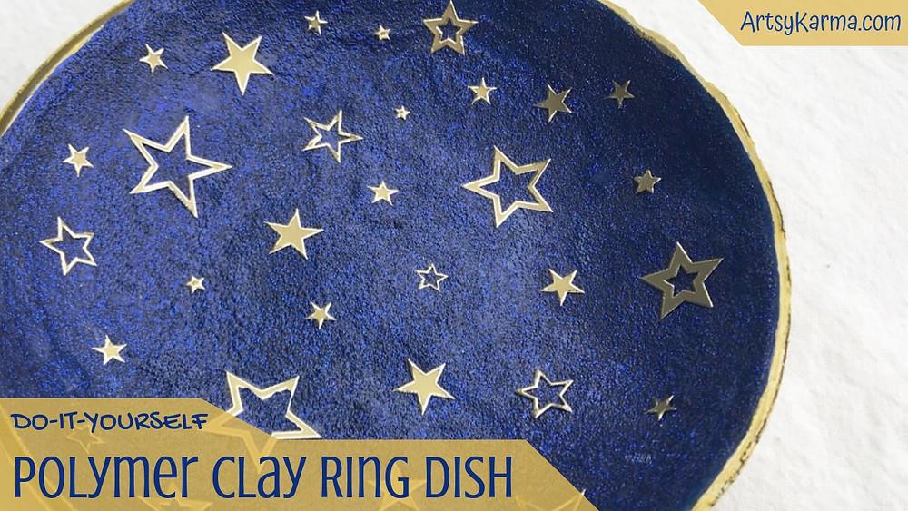 diy polymer clay ring dish