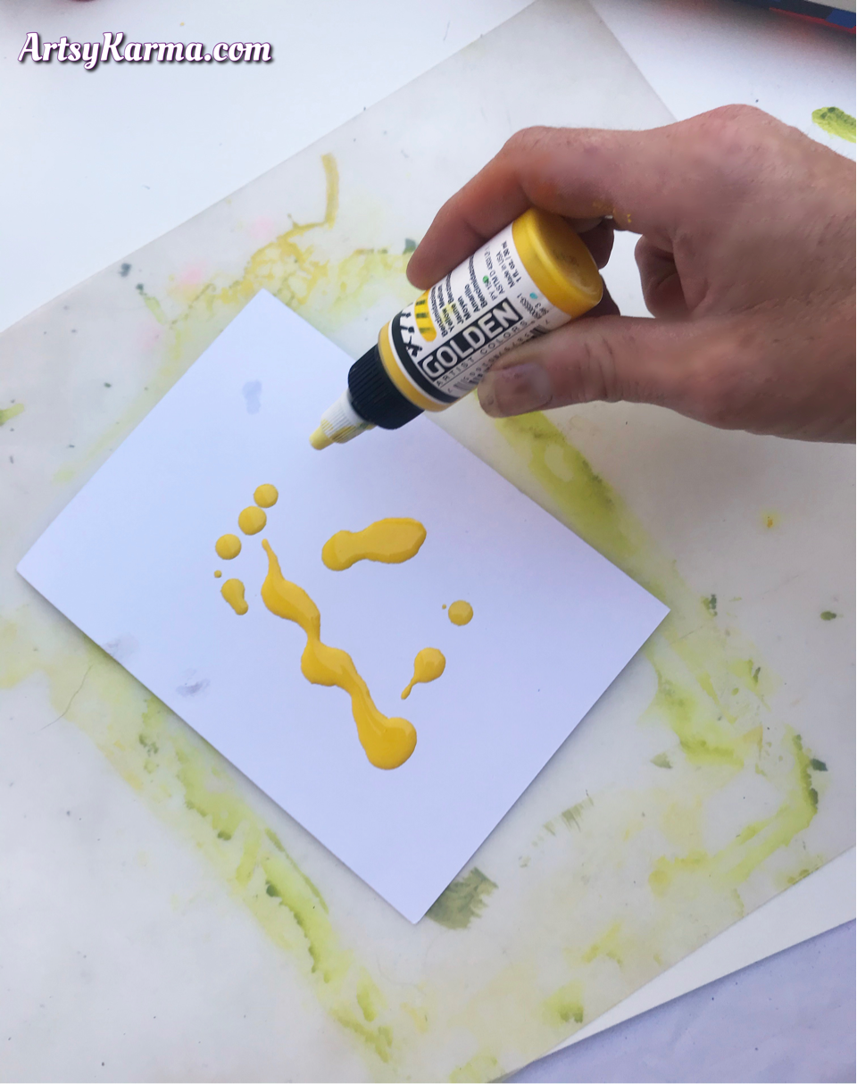 Using high flow acrylics and rubbing alcohol
