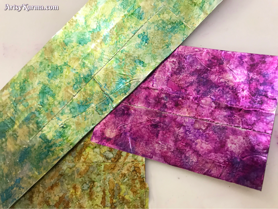 Alcohol ink mixed media cards diy