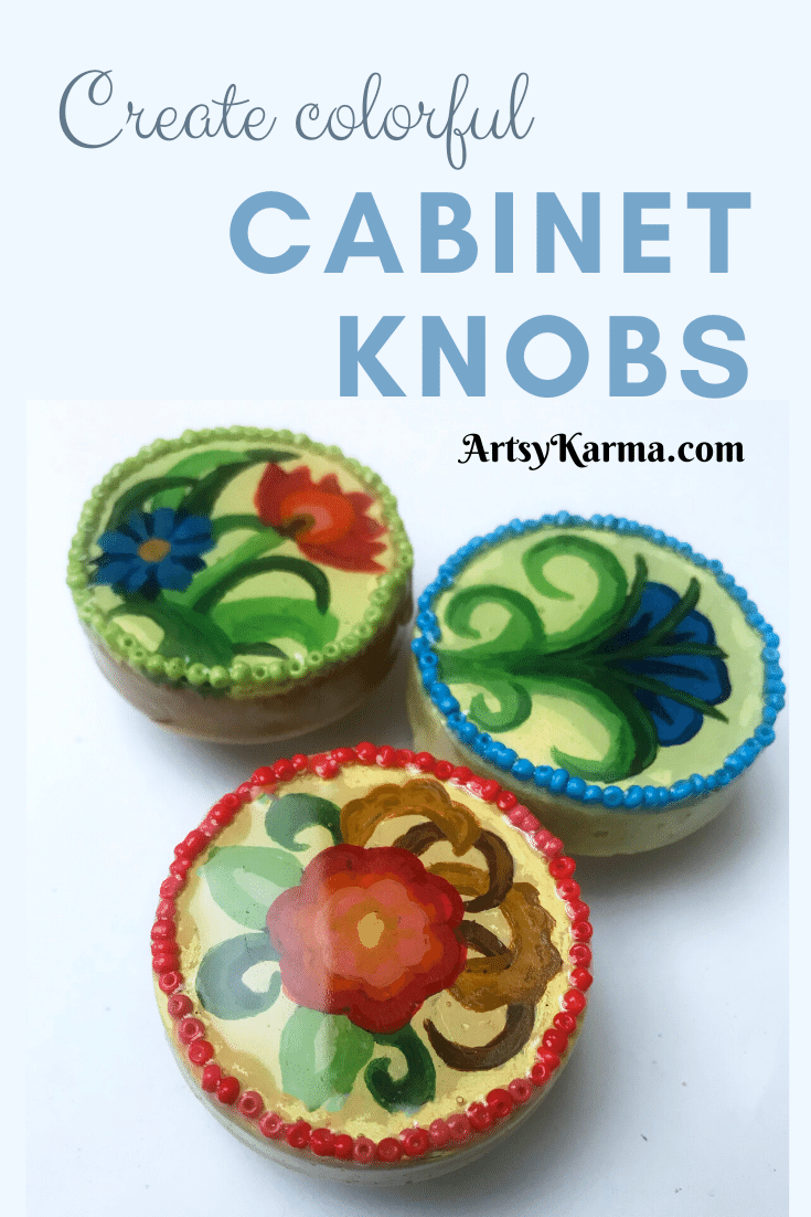 create colorful cabinet knobs