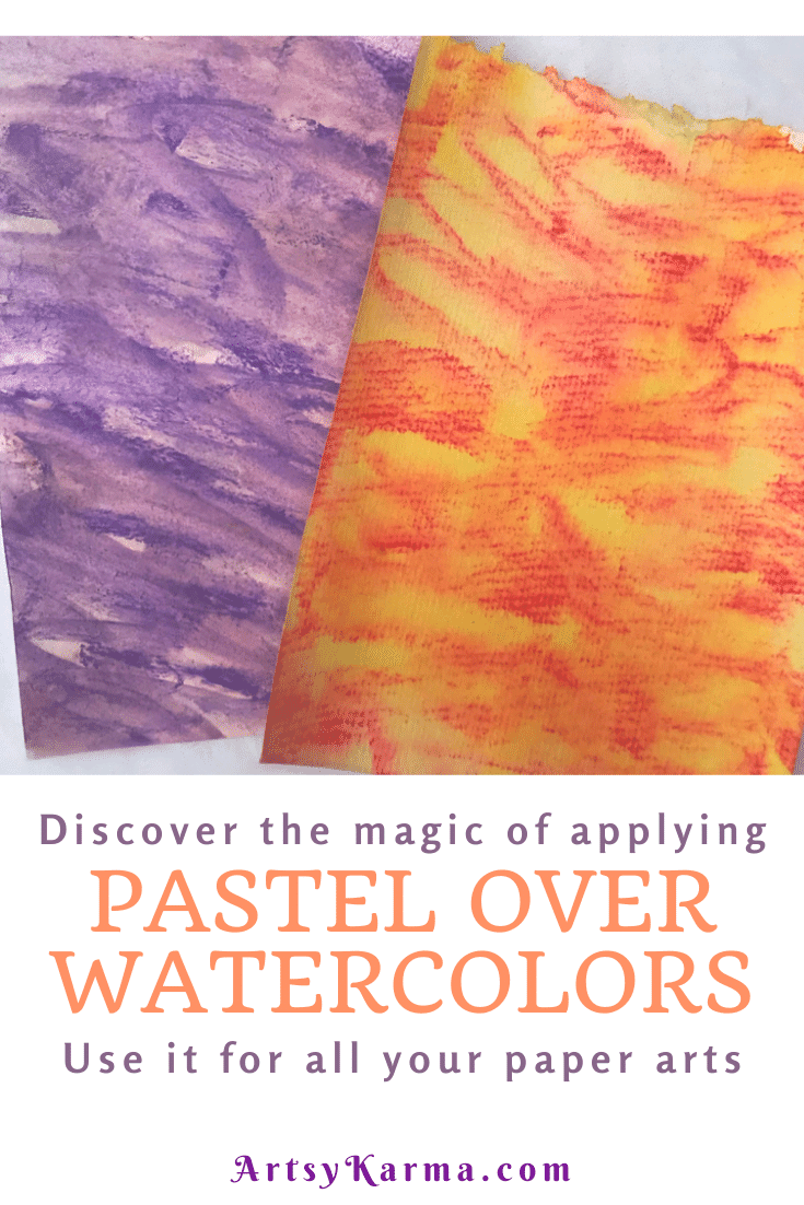 Discover the magic of pastels over watercolors