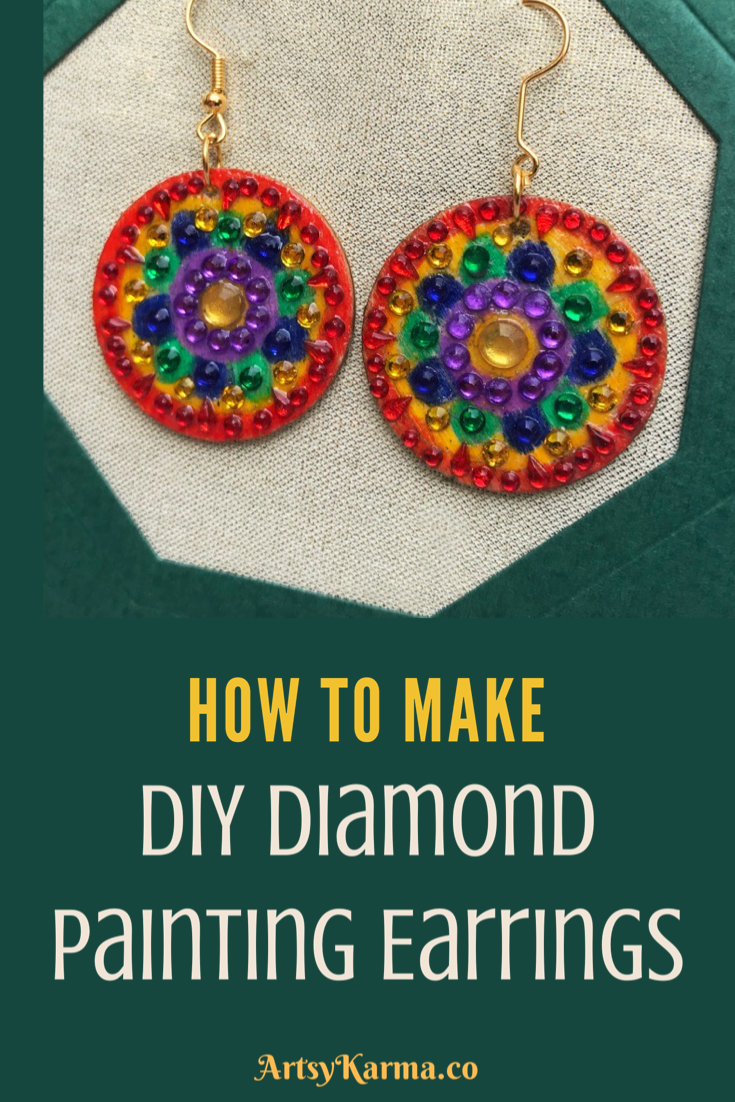 How to make diamond painting earrings