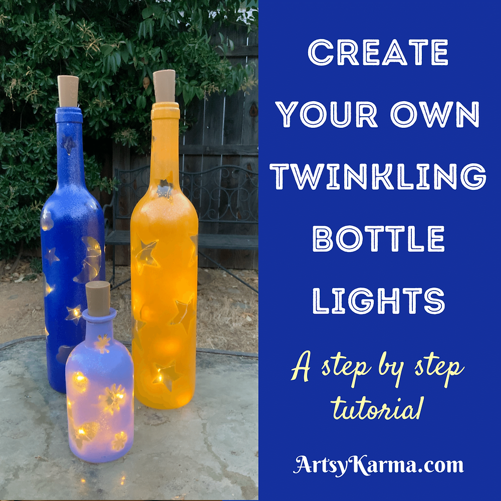 Create your own twinkling bottle lights