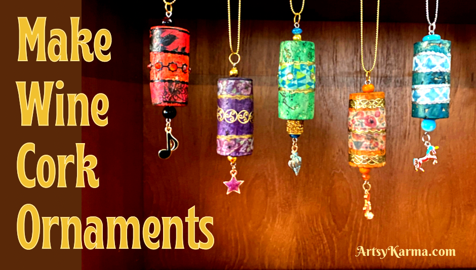 How to make wine cork ornaments