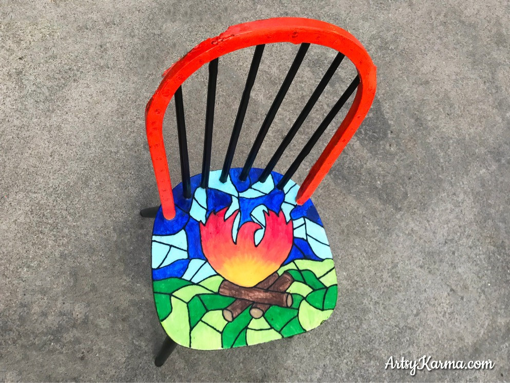 phoenix rises for camp fire chair