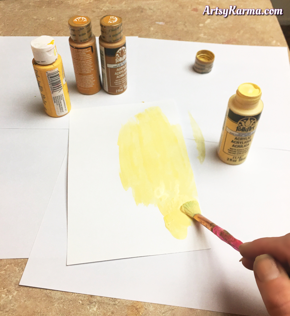 Start background technique with a layer of acrylic craft paint