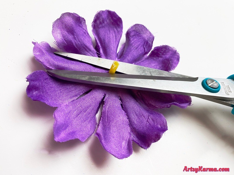 Artificial flowers craft