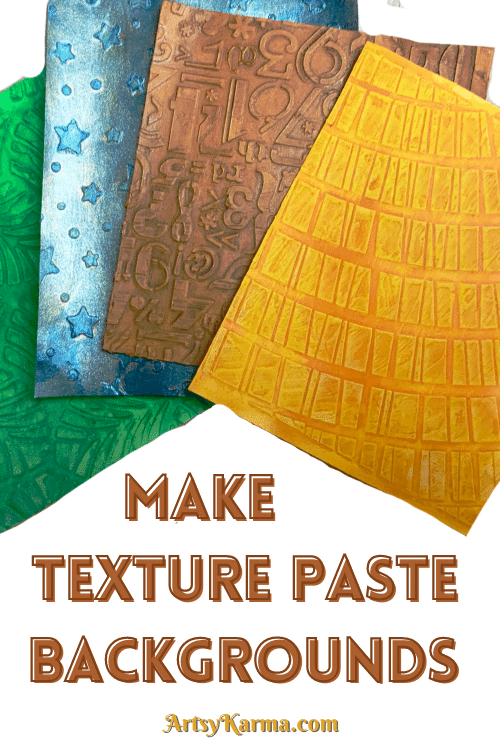 Make texture paste backgrounds