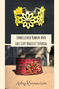 embellished lace cuff tutorial