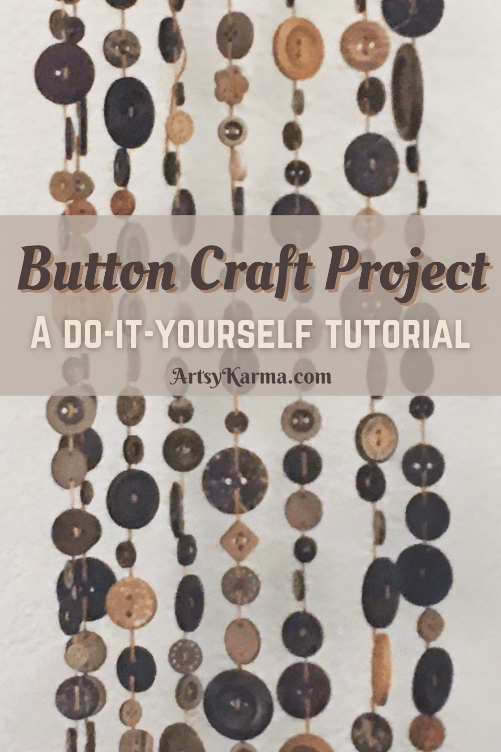 Button craft project tutorial