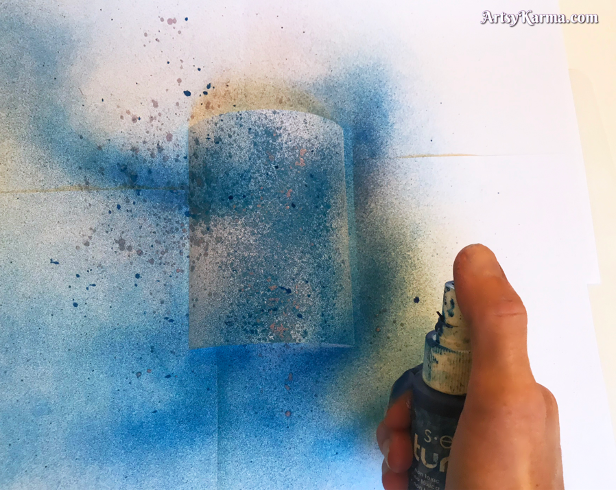 Create backgrounds with inks