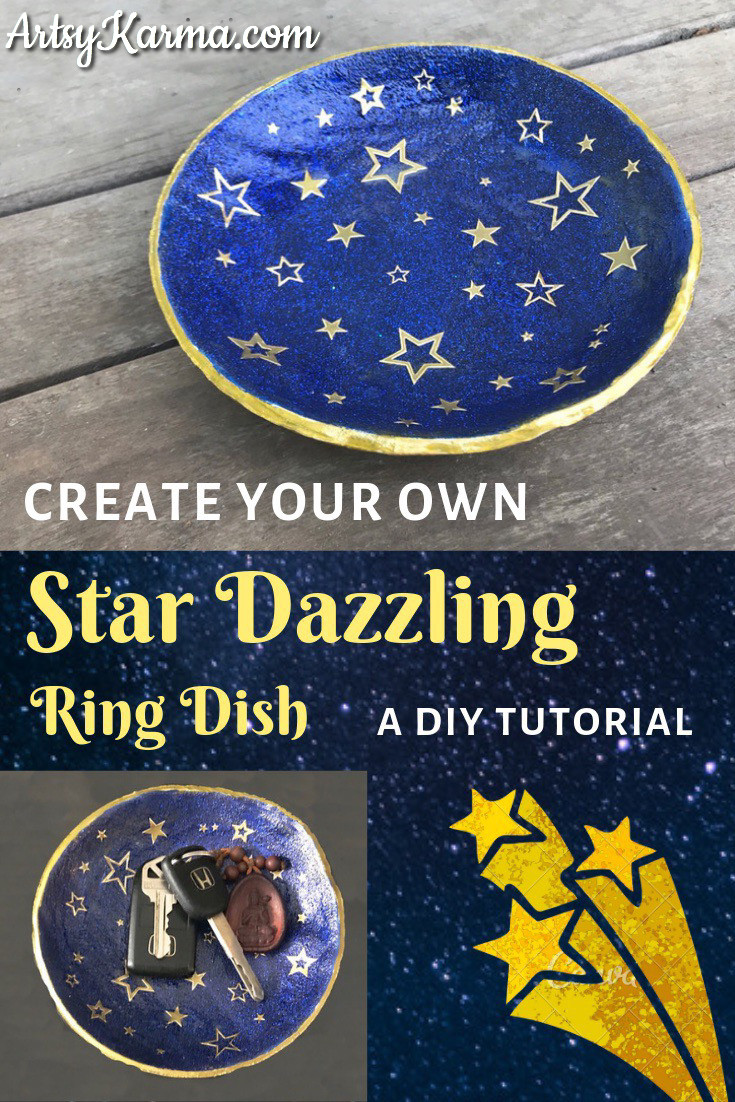 star dazzling ring dish diy