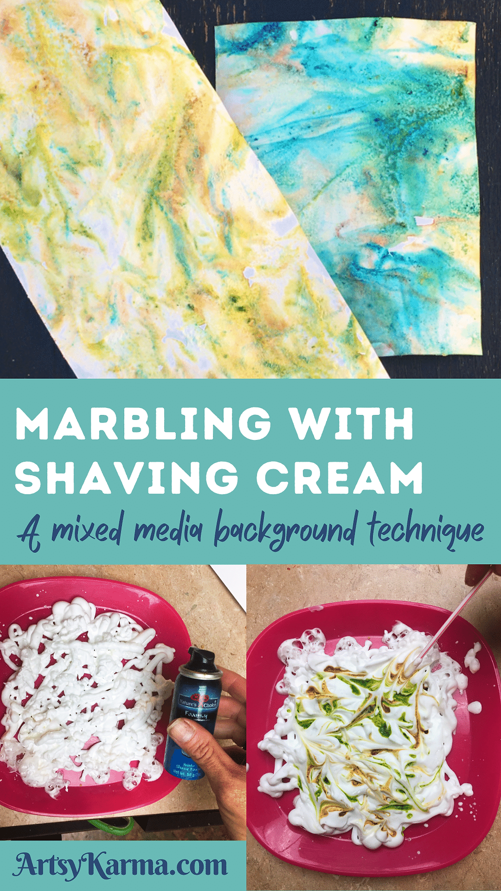 Marbling with shaving cream