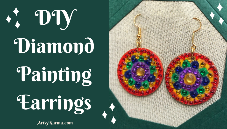 Diy Diamond Painting Earrings